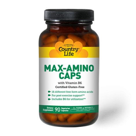 Country Life Max-Amino With Vitamin B6 Vegetarian Capsules 90's