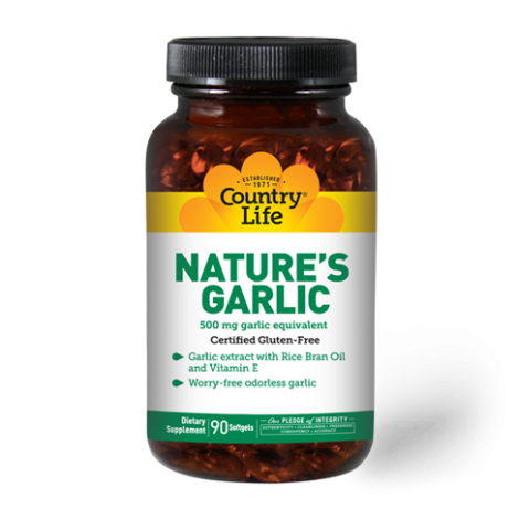 Country Life Nature's Garlic 500 mg Softgel 90's