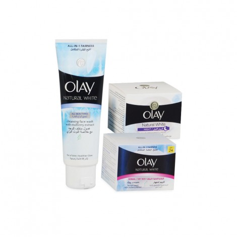 Olay Natural White Regimen Pack + Face Wash Free
