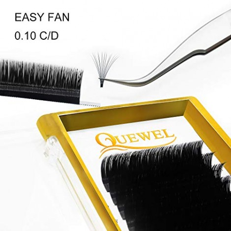 Volume Eyelash Extensions Thickness 0.10 C Curl 15mm Premade Fans 2D 3
