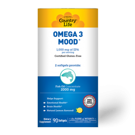 Country Life Omega 3 Mood 2000 mg Softgels 90's