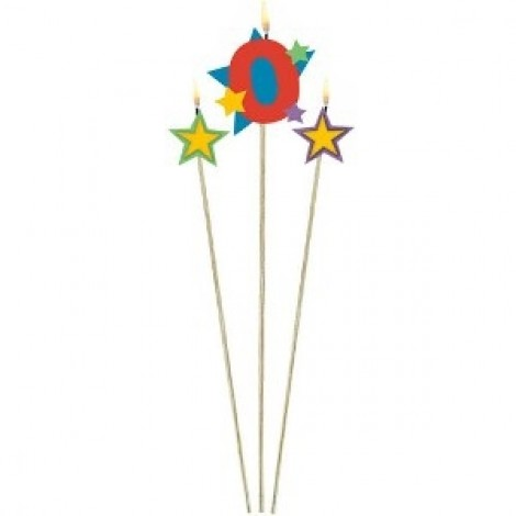 Amscan Birthday Candle, Number 175202, Multi Colour
