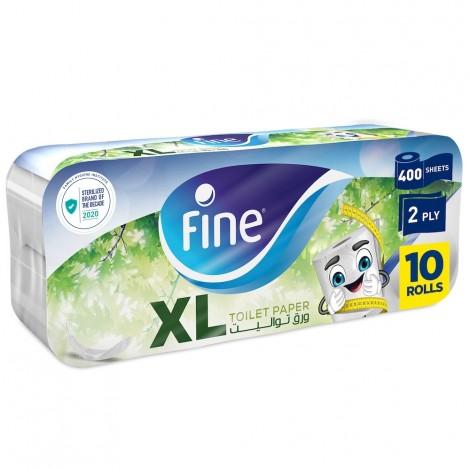 Fine Hygienic 2 Ply Toilet Rolls - 10 x 400 Sheets