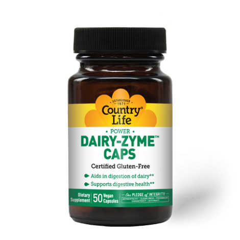Country Life Power Dairy-Zyme Capsules 50 's