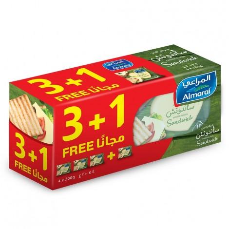 Almarai Slices Sandwich 4x200gm