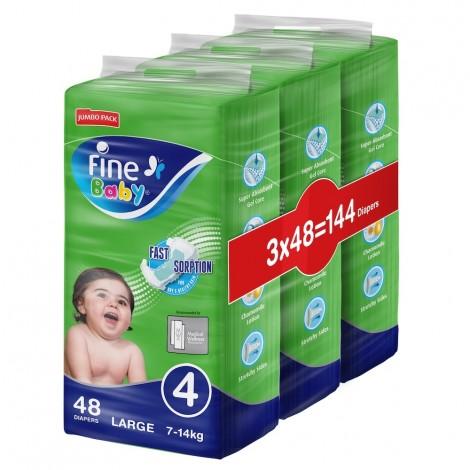 Fine Baby Diaper Super Dry Green Large Jumbo Pack, Pack Of 3