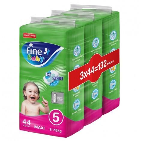 Fine Baby Diaper Super Dry Green Max Jumbo Pack, Pack Of 3
