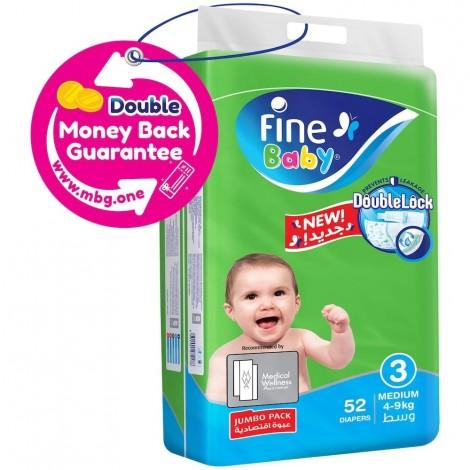 Fine Baby Diaper Super Dry Green Medium Jumbo Pack