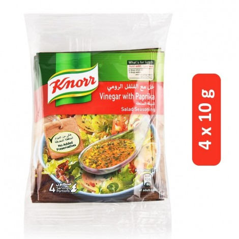 Knorr Vinegar with Paprika Salad Seasoning - 4 x 10 g