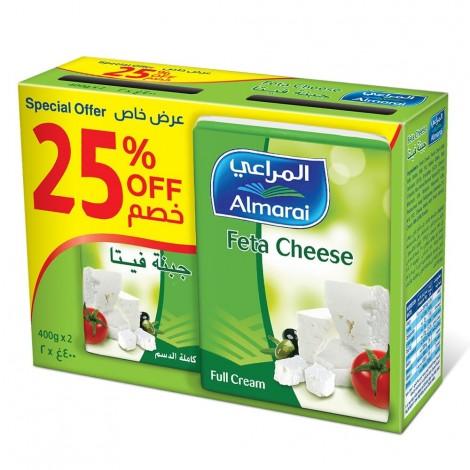 Almarai Feta Cheese Full Cream  2 X 400 gm
