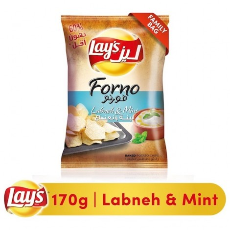 Lays Forno Labneh Mint Potato Chips, 170g