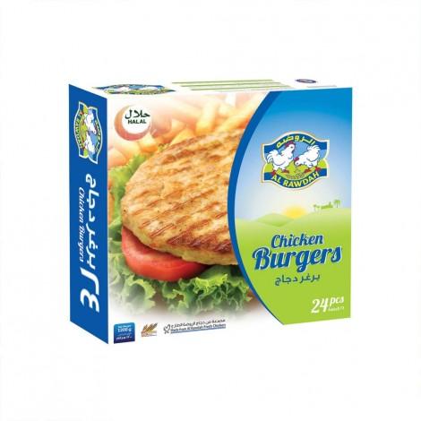 Al Rawdah Chicken Burger - 24 Pieces, 1200 g