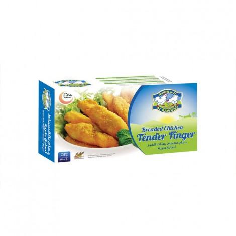 Al Rawdah Breaded Chicken Tender Finger - 400 g