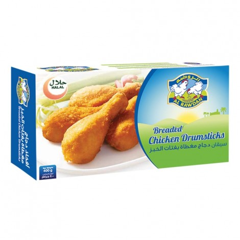 Al Rawdah Breaded Chicken Drumsticks - 400 g