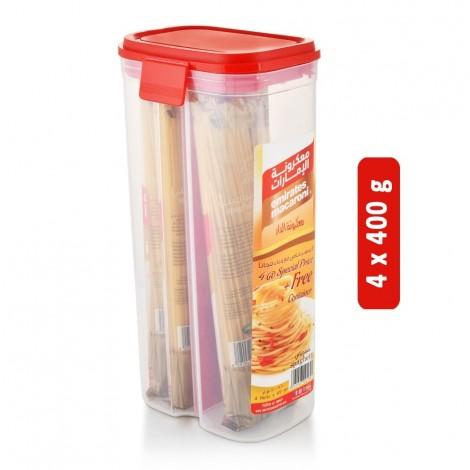 EMIRATES No. 3 Spaghetti Pasta with Container - 4 x 400 g