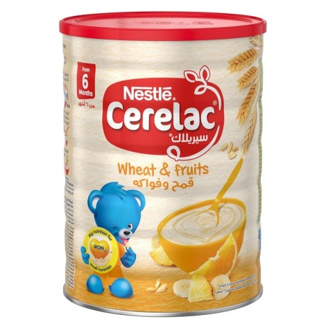 NESTLE CERELAC Infant Cereals with iRON+ WHEAT & FRUITS 1kg Tin