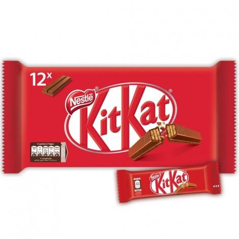 NESTLE KITKAT 2 Finger Milk Chocolate Wafer Bar  20.5g (Pack of 12)
