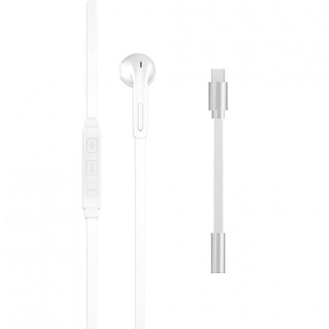 Maestro Flat Wired Ear Set Stereo- White, M-APPLEEAR-W