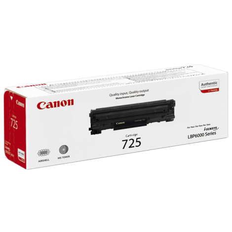 Canon 725 Monochrome Laser Cartridge - Black