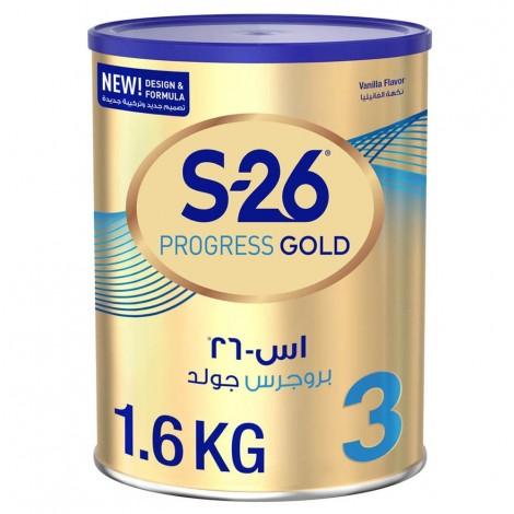 Wyeth Nutrition S26 Progress Gold Stage 3, 1-3 Years Premium Milk Powder Tin 1.6kg