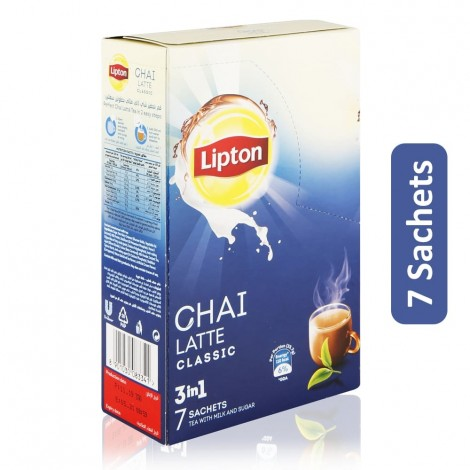 Lipton 3 in 1 Chai Latte Classic Tea - 7 Sachets