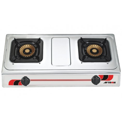 Aftron 2 Gas Burners S/S Gas Stove, AFGT2040FSD