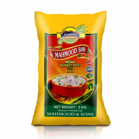 MAHMOOD 500 INDIAN 1121 BASMATI RICE - 5KG