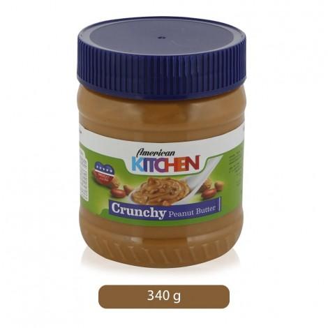 American Kitchen Crunchy Peanut Butter Spread - 340 g