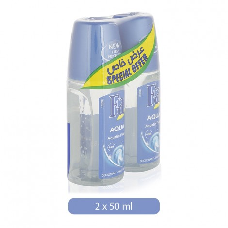 Fa Aqua Aquatic Fresh Deodorant Spray for Women - 2 x 50 ml