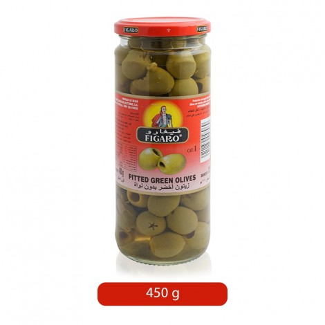Figaro-Pitted-Green-Olives-450-g_Hero