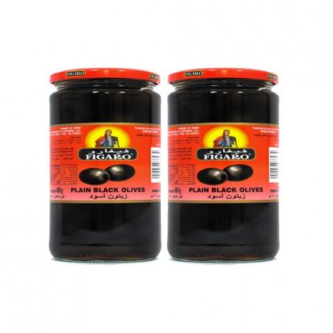 Figaro Plain Black Olives - 2x270gm