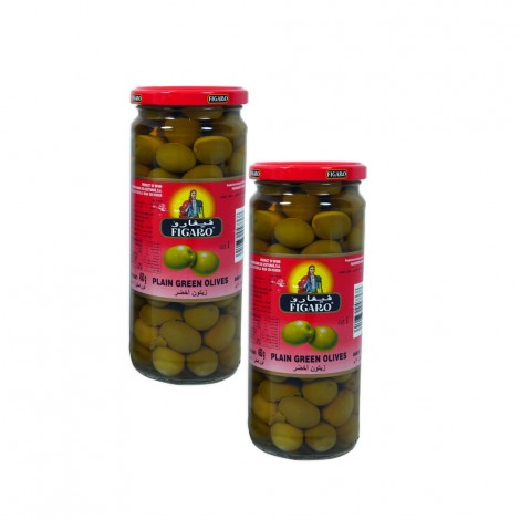 Figaro plain Green Olives 2X270gm