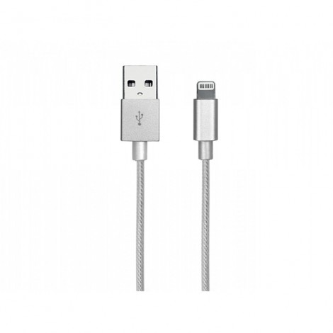 SBS TECABLEUSBIP5BS 1m Lightning to USB Cable, Silver