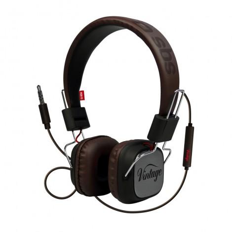 SBS TEHEADPHONEDJHQK Vintage Stereo Headphones