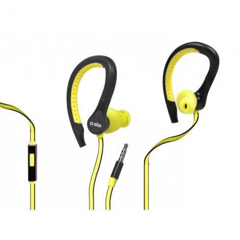 SBS TESPORTINEARWPR In-ear stereo earphones Runway Flat Sport, jack 3,5 mm With Answer Key And Microphone
