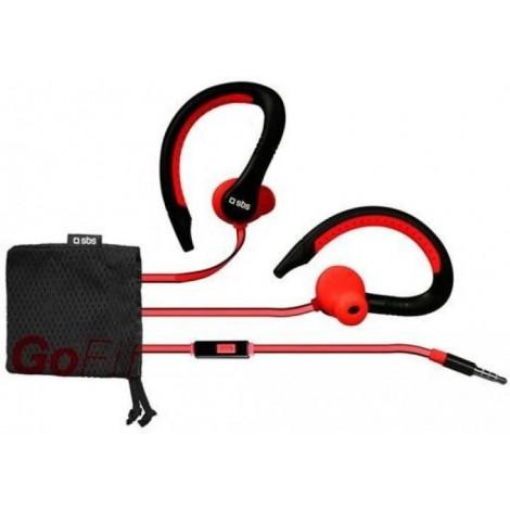 SBS TESPORTINEARWPRR In-ear stereo earphones Runway Flat Sport, jack 3,5 mm With Answer Key And Microphone