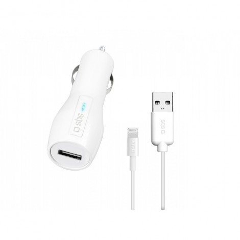 SBS TTCARKITLH2A USB car charger kit with Lightning cable
