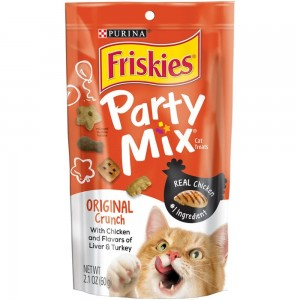 PURINA FRISKIES Party Mix Cat Treats Original Crunch Cat Food 60g