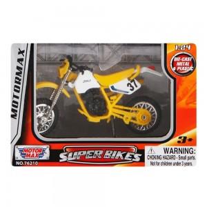 Motor Max Die-Cast Super Bikes - Yellow/Black, 3 Years+