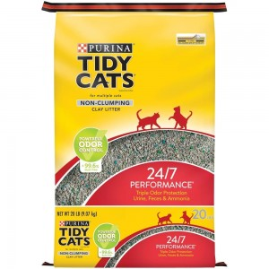 PURINA TIDY Cats Non Clumping Cat Litter 24/7 Performance 20lb