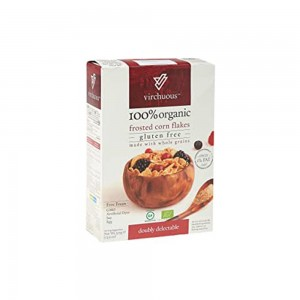 Virchuous Organic Frosted Corn Flakes Gluten Free, 375gm