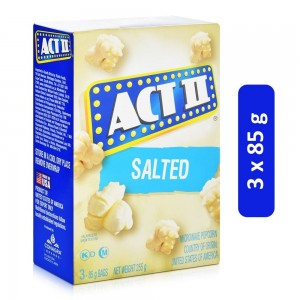 ACT II Salted Flavored Microwave Popcorn - 3 x 85 g