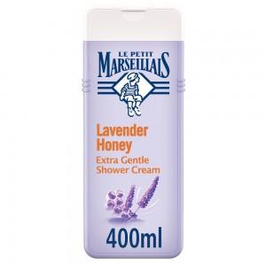 LE PETIT MARSEILLAIS, Shower Cream, Lavender Honey, Extra Gentle, 400ml