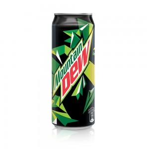 Mountain Dew, Carbonated Soft Drink, Cans, 355 ml