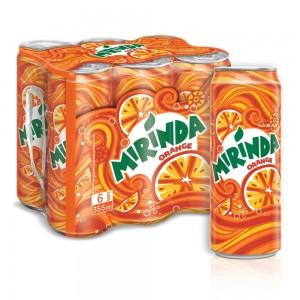 Mirinda Orange, Carbonated Soft Drink, Cans, 355 ml x 6