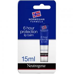 Neutrogena, Lip Balm, Norwegian Formula, 6-Hour Protection, 15 ml