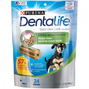 PURINA DENTALIFE Dog Treats Daily Oral Care for Mini Dogs, 5-20 LBS, 193g