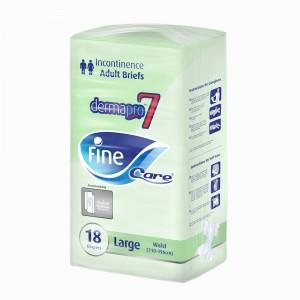 Fine Care Incontinence Unisex Briefs - 18 Pieces, Large