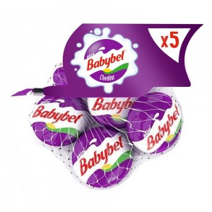Mini Babybel Cheddar Cheese, Pack of 5 pieces, 100g