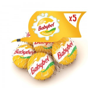Mini Babybel Emmental Cheese, Pack of 5 pieces, 100g